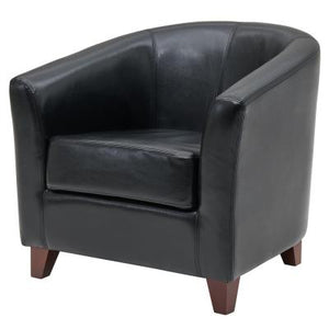Hayden BONDED Leather Tub Chair, Black