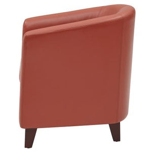Hayden BONDED Leather Tub Chair, Pumpkin