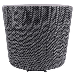 Hayden Fabric Swivel Chair, Sand/Black Herringbone