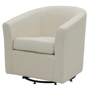 Hayden Fabric Swivel Chair, Bright Sand /Icy Leafage Beige