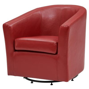 Hayden SWIVEL Bonded Leather Chair, Red