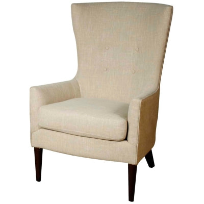 Tristan Fabric Arm Chair, Flax/Burlap