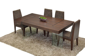 Modrest Aura - Modern Floating Tobacco Dining Table