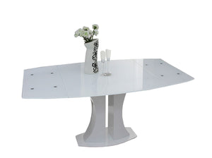 Modrest Split - Modern White Extendable Dining Table