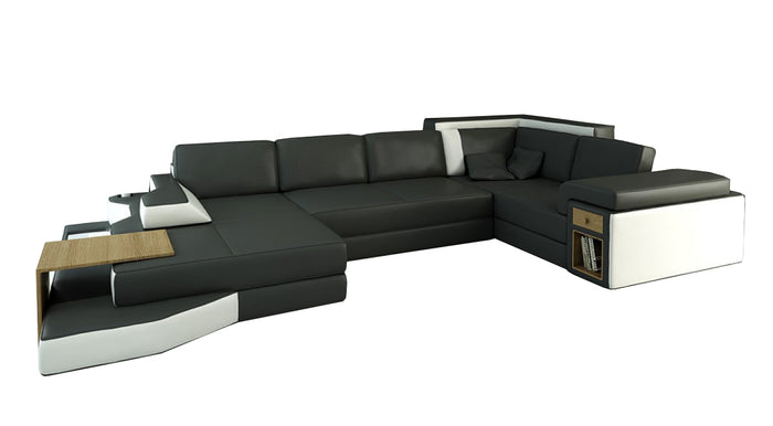 Divani Casa 2314 Contemporary Leather Sectional Sofa