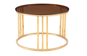 Modrest Alondra Modern Gold Coffee Table & End Nesting Table Set