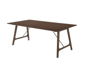 Modrest Oritz Mid-Century Modern Walnut Dining Table