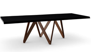 Cartesio Wood dining table with metal base  CS/4092-RL B 250