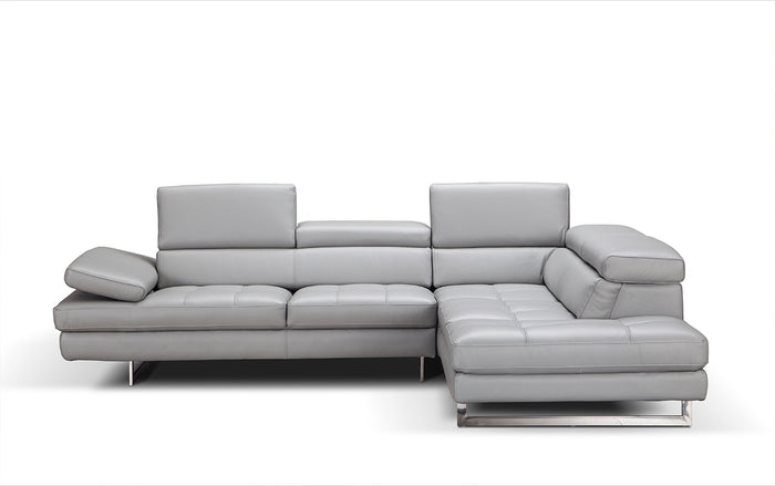 A761 Italian Leather Sectional * (CURRENTLY ON FURNITURE FURNITURE SHOWROOM FLOOR)