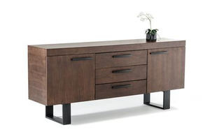 Modrest Lola Modern Solid Wood Walnut Sideboard