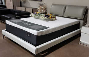 VIG Furniture Grey Faux Leather Queen Size Platform Bed (FLOOR MODEL - MUST PURCHASE FROM SHOWROOM)