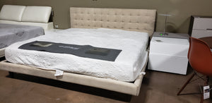 Kuka Vance Fabric Bed In California King Size (FLOOR MODEL - MUST PURCHASE FROM SHOWROOM)