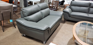 GU Furniture #168 Stationary Loveseat Sofa (Grey)  (FLOOR MODEL - MUST PURCHASE FROM SHOWROOM)