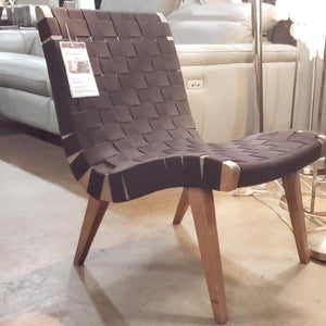 Risom Replica Black Lounge Chair (FLOOR MODEL - MUST PURCHASE FROM SHOWROOM)
