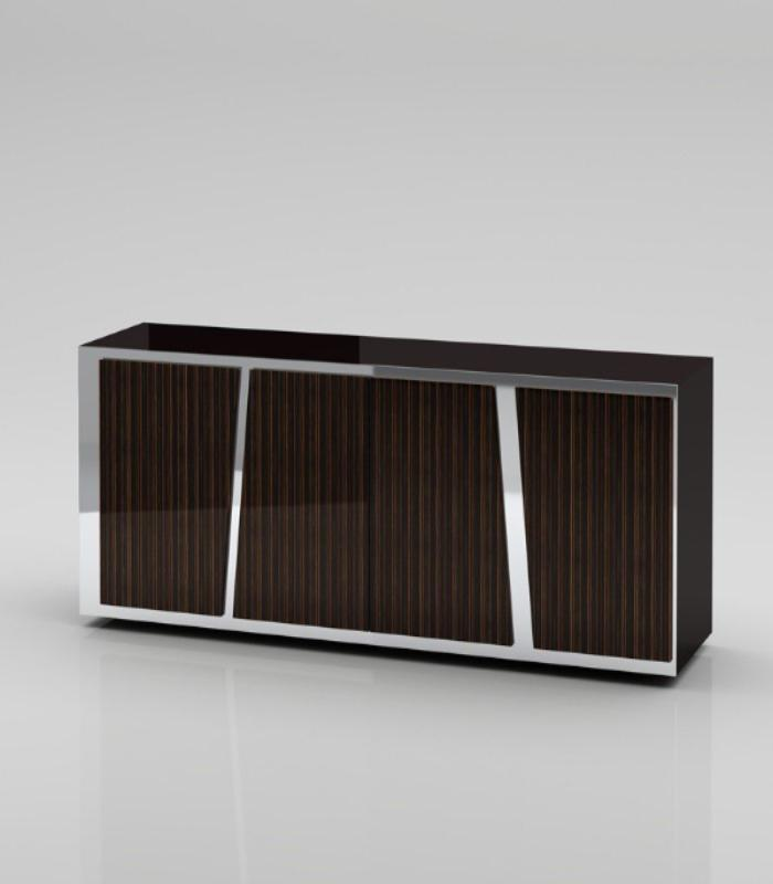 Modrest Sherman Modern Ebony High Gloss Buffet