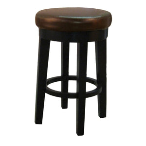 Cameron Bonded Round Swivel Counter Stool, Brown