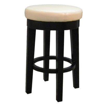 Cameron Bonded Round Swivel Counter Stool, Beige