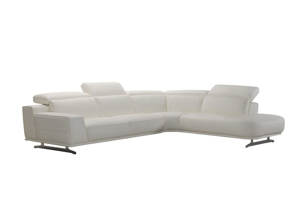 Divani Casa Benson Contemporary White Leather Sectional Sofa