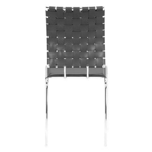Zuo Criss Cross Black Dining Chair