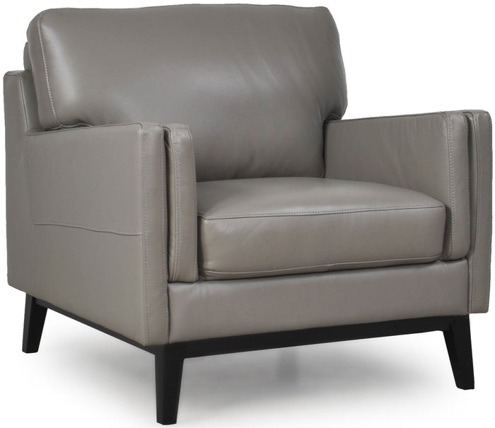 Moroni 352 Osman Leather 1 Seater Chair * (CURRENTLY ON FURNITURE SHOWROOM FLOOR)