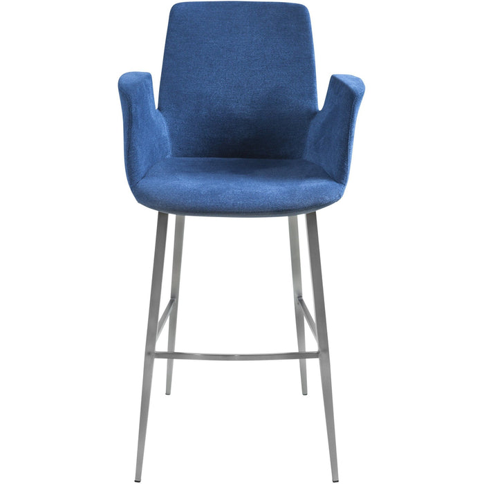 EURO STYLE ARCHER-B BAR VELVET STOOL