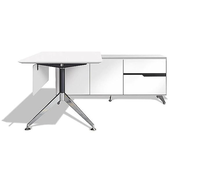 "77"" Executive Office Desk With Cabinet - 400 Series Unique"