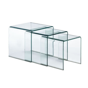 Zuo Modern Explorer Nesting Table Clear Glass