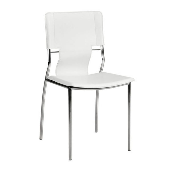 Zuo Trafico White Dining Chair