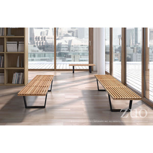 Zuo Heywood Triple Natural Dining Bench