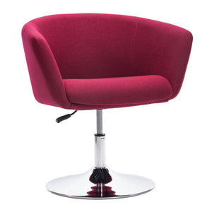 Zuo Umea Arm Chair Carnelian Red