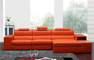 Divani Casa Polaris Mini - Contemporary Bonded Leather Sectional Sofa * (CURRENTLY ON FURNITURE SHOWROOM FLOOR)