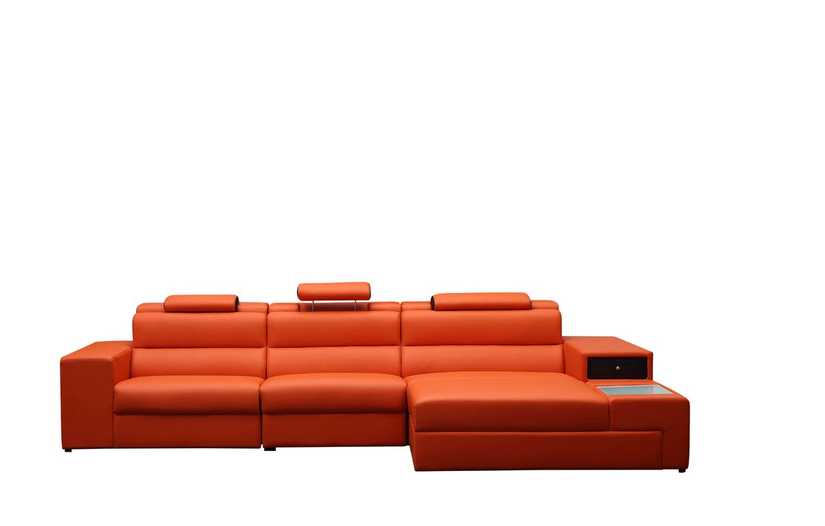 Divani Casa Polaris Mini   Contemporary Bonded Leather Sectional Sofa *  (CURRENTLY ON SHOWROOM FLOOR)