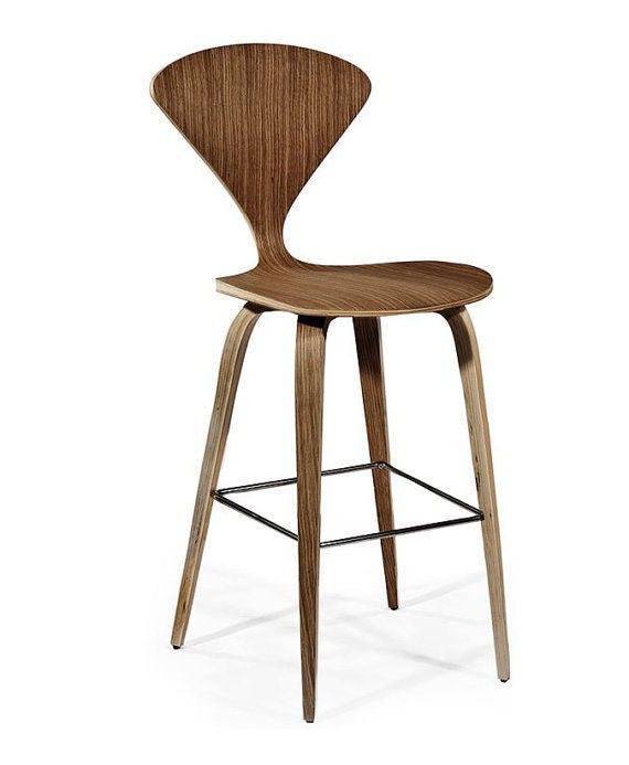 Norman Cherner Inspired Counter Stool American Walnut PV001