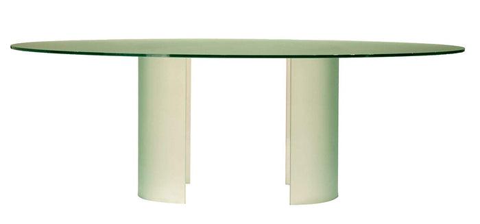 Star International Ritz Glacier Dining Table with Tempered Glass Top (FLOOR MODEL - MUST PURCHASE FROM SHOWROOM)
