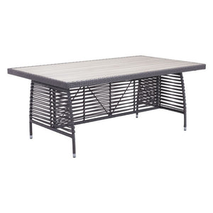 Zuo Sandbanks Gray Outdoor Dining Table