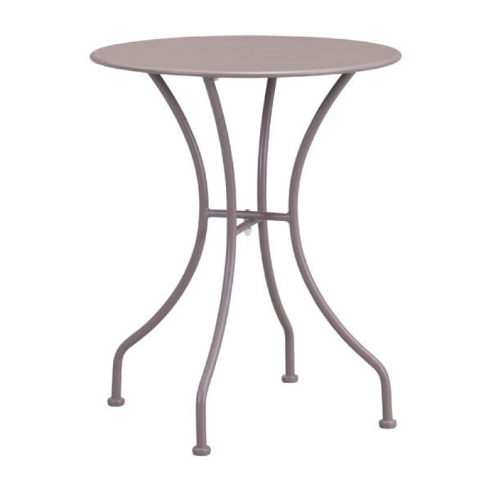 Zuo Oz Round Taupe Outdoor Dining Table