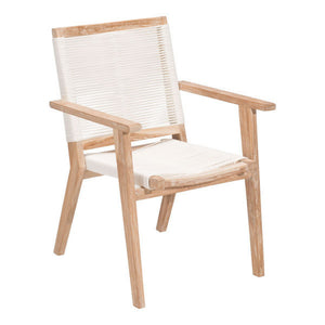 Zuo West Port White Wash&White Dining Chair