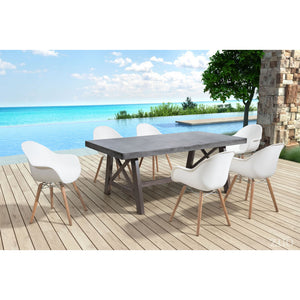Zuo Tidal White Dining Chair