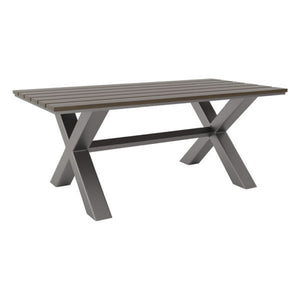Zuo Bodega Industrial Gray & Brown Dining Table