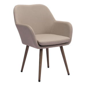 Zuo Pismo Taupe Dining Chair