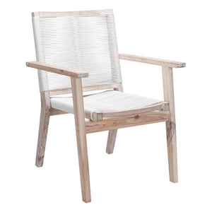Zuo South Port White Wash & White Dining Chair