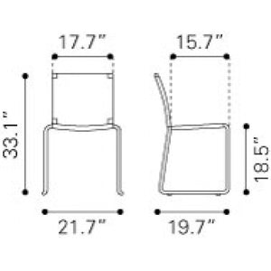 Zuo Beckett Espresso Outdoor Dining Chair