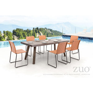 Zuo Beckett Tan Outdoor Dining Chair