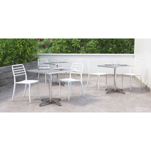 Zuo Christabel Aluminum Square Dining Table