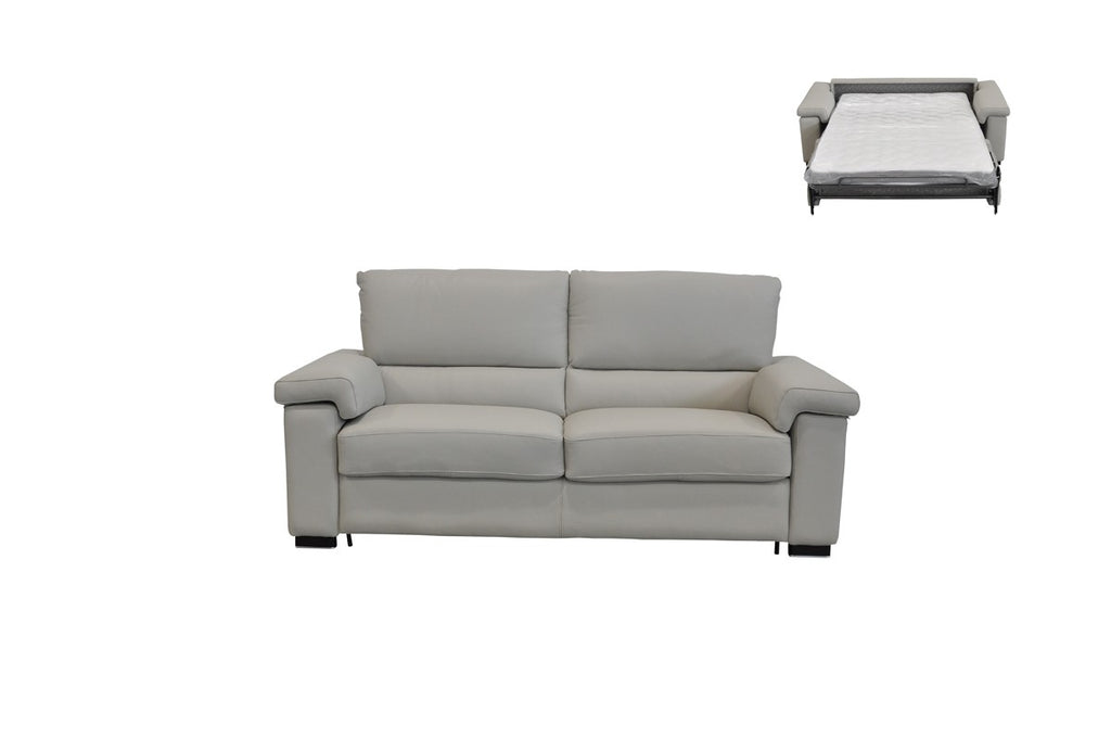 Leather Sofa Bed Grey