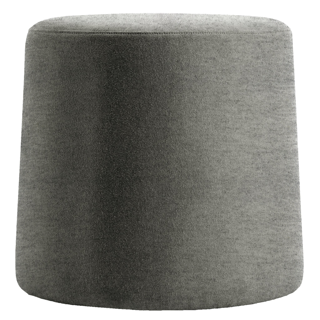 Euro Style Light Gray Ova Balance Storage Accent Stool Ottoman