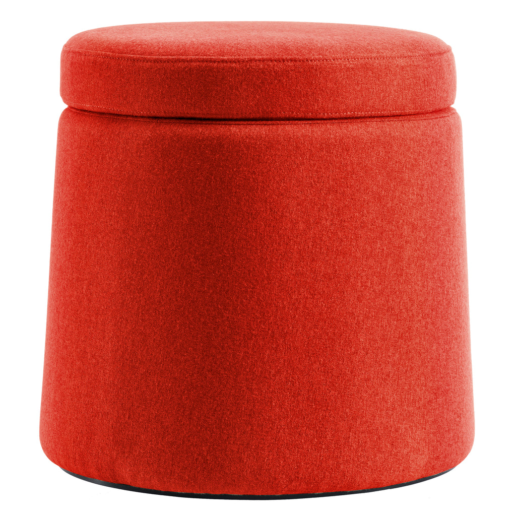 Euro Style Orange Ova Balance Storage Accent Stool Ottoman