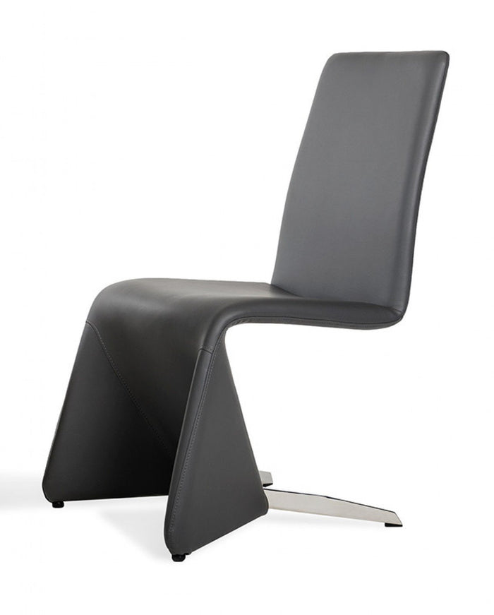 Nisse - Contemporary Black Leatherette Dining Chair (Set of 2)
