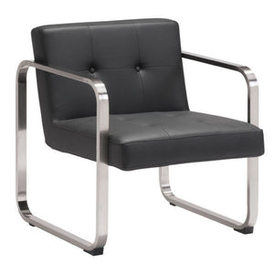 Zuo Varietal Arm Chair Black