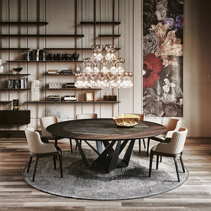 Cattelan Italia Skorpio Ker-Wood Round Dining Table